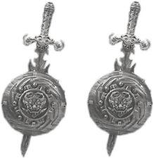 2 x Silbernes Ritter Set für Kinder Bulle Ritterset Römer Legionär Mittelalter