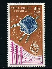 Space Space 1965 St. Pierre and Miquelon SPM ITU uit Satellite 412 MNH 963