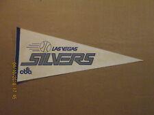 CBA Las Vegas Silvers Vintage Defunct Circa 1982-83 Logo Basketball Pennant