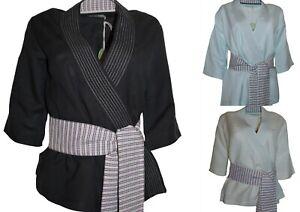 Deadstock Linen Blend Kimono Various Colours Sizes NWT