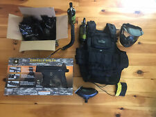 Tippmann US Army Project Salvo Paintball Marker Gun With Extras - Black