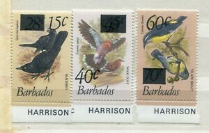 FAUNA_861 1981 Barbados birds 3 pc SURCHARGED OVERPRINT MNH Combined payments