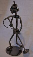 Nuts and Bolts Singer With Microphone Metal Musician Figurine