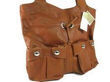 ECHT NAPPA LEDER Tasche ital. Damen Handtasche Shopper Cognac NL838C