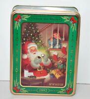 Oreo Cookie Holiday Tin 1992 Nabisco Advertising Empty Santa Claus Christmas