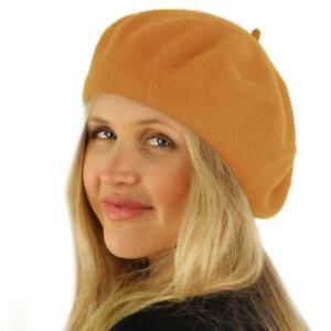 Classic Winter 100% Wool Warm French Art Basque Beret Tam Beanie Hat Cap Timber