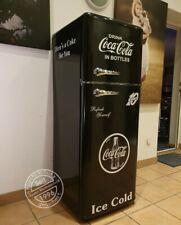 Retro Kühlschrank Gefrierkombi schwarz K2 Coca Cola Style A++ Bomann DTR 353