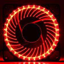 32 4 LUCE Halo pin PWM 12 cm 120 mm 12025 12 V Rosso LED Ventola DI RAFFREDDAMENTO CASE CHASSIS