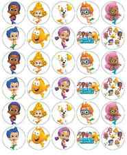 30x Bubble Guppies Cupcake Toppers Edible Wafer Paper Fairy Cake Toppers