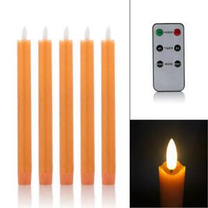 2x Sompex Flame LED Stabkerze 38130 elfenbein 2,5x23cm Fernbedienung Echtwachs