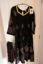 Indian Asian Pakistani dress party long dress with scarf.Lady Girl. Medium 12-14