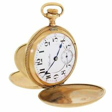 Hamilton 1909 Grade 941 Model 2 21J Hunter Pocket Watch Running 18S Double Sunk