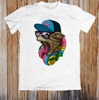 Dj Cat Crazy Funny Unisex T Shirt