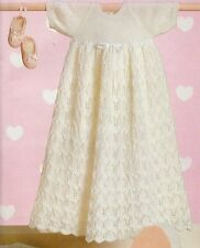 Baby Knitting Pattern Christening Dress + Shawl + Short Dress
