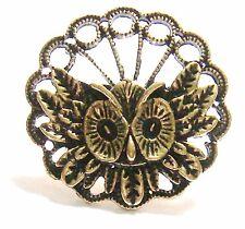 Vintage Owl Ring-Retro Filigree Antique Bronze Adjusts
