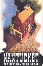 """Vintage Nantucket """"Haven Railroad"""" Travel Poster"""