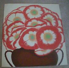 "VINTAGE  SERIGRAPH ART PRINT,  FLOWERS  26.5""X24"" Unsigned Modern 70-89 Artwork"