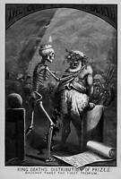 ALCOHOLISM THOMAS NAST SKELETON KING DEATH'S DISTRIBUTION OF PRIZES DIONYSUS