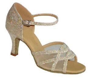 Ladies Salsa Dance Shoes Line Latin Ballroom UK 3 - 8