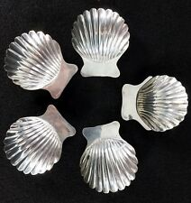 5 Vtg. Sterling Silver TAXCO Clam Shell Salt Nut Dishes Mexico Eagle 3 Hallmark