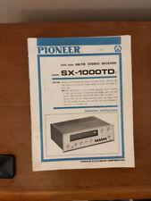 Pioneer SX-1000TD Receiver Service Manual *Original* #1