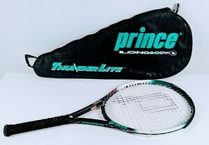Prince ThunderLite OS Oversize Tennis Racket 4-1/8 Grip Racquet With Case