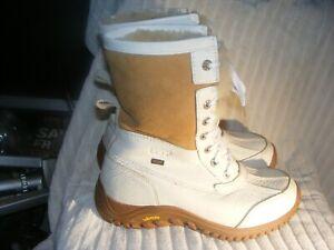 Women's Genuine Waterproof Leather&Sheepskin Boots by Ugg-Worn Couple Times-Sz 8