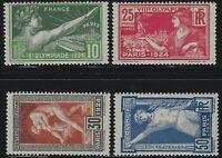 France - 1924 - Scott # 198 thru 201 - Complete Set - Mint Never Hinged