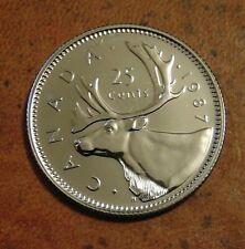 1987  CANADA quarter dollar twenty five 25 cents cent piece coin PL Proof Like