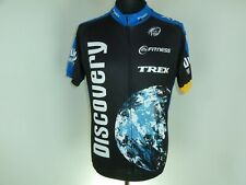 Cycling Shirt Cycle Bike Discovery Channel JERSEY w/POCKETS Short Sleeve size XL