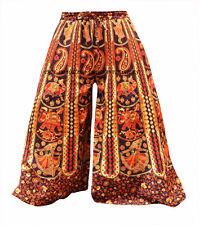 INDIAN HANDMADE COTTON HAREM PLAZO YOGA MEN WOMEN TROUSER BAGGY GYPSY BOHO NEW
