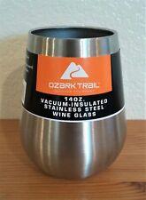 Ozark Trail Stainless Steel Wine Glass (14 oz) Silver D4260