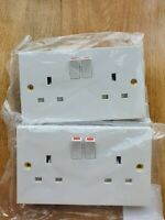 BG Nexus 922DP White Moulded Double Pole 13 Amp Switched Socket, pack of 2