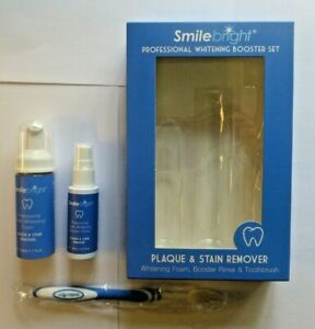 Smilebright Professional Whitening Booster Set. Plaque & Stain Remover