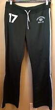 ABERCROMBIE & FITCH WOMEN'S S GREEN BLUE STRIPES PHYS ED GYM SWEAT TRACK PANTS