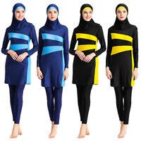Women Islamic Muslim Full Cover Costumes Modest Swimwear Burkini Arab Clothing