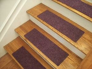 "Premium Carpet Stair Tread Sets - Berber Lavender - 30"" x 8"""