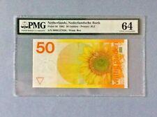 Netherlands P-96 - 50 Gulden; 1982; PMG Graded 64