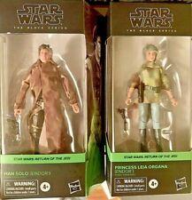 Star Wars Black Series 6 Inch Han Solo ENDOR ++ Princess Leia Endor ++ IN Hand