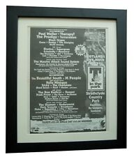 T IN THE PARK+1995+ROCK+POSTER+AD+FRAMED+RARE ORIGINAL+FAST GLOBAL SHIP+TICKETS