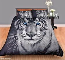 Georges Fine Linen WHITE TIGER Double Bed Size Doona | Duvet | Quilt Cover Set