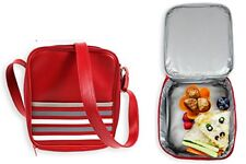 Messenger Insulated Lunch Bag,Food Storage Kids Satchel School Bag,PVC Leather