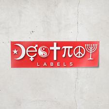 Destroy Labels Bumper Sticker (Red) Sarcastic Atheist Humanist Coexist Stickers