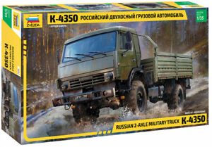 Zvezda 3692 Russian 2-Axle Military Truck K-4350 M1:35 unlackierter Bausatz