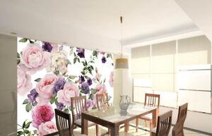 3D Pink Flower Paint8 Wallpaper Mural Paper Wall Print Wallpaper Murals UK Lemon