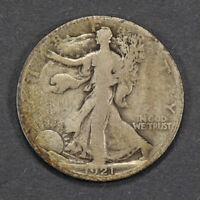 1921-S 50c WALKING LIBERTY HALF DOLLAR, BETTER DATE COIN! LOT#M971