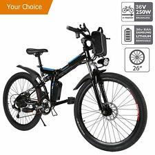 26'' Electric Bike EBike Mountain Bicycle Folding ECycling Shimano 21Speed 250W