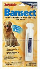SERGEANT'S* BANSECT Squeeze-on FLEA & TICK CONTROL For Dogs OVER 33 lbs 1 Month