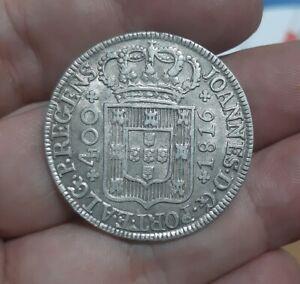 1772# PORTUGAL - Cruzado / 400 Reis 1816 Prince JOÂO Silver Silber KM#331 *TOP*