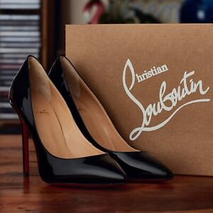 Christian Louboutin Patent Pumps Size UK 5.5 Pigalle Model 100mm Heel RRP £545